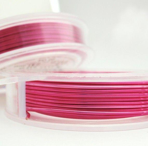 SALE 28 gauge Silvered Fuchsia Wire  Non by UnkamenSupplies, $9.85