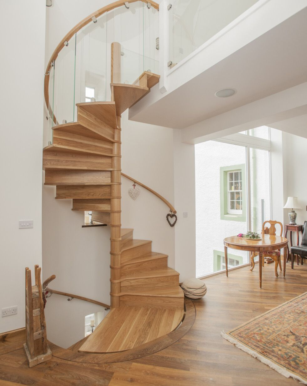 Spiral Staircase to Manse Refurbishment Fife Haldane UK