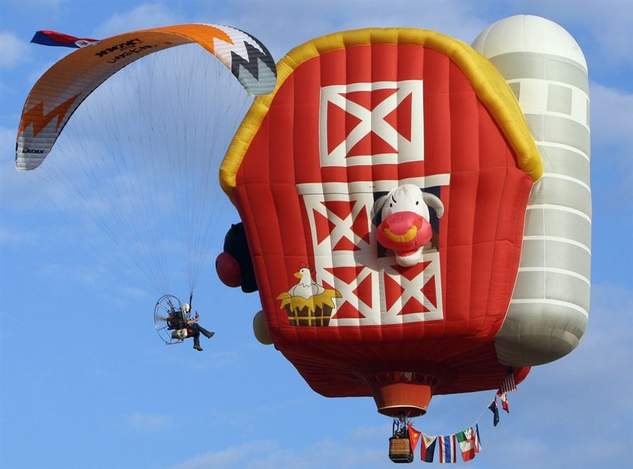 Character-themed hot air balloons take flight in ...