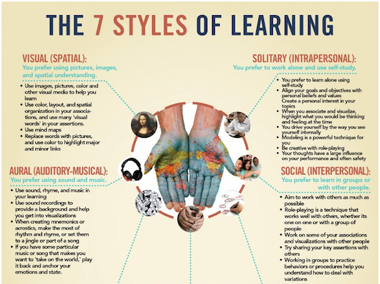 Multiple Intelligences and Different Learning Styles   My ...