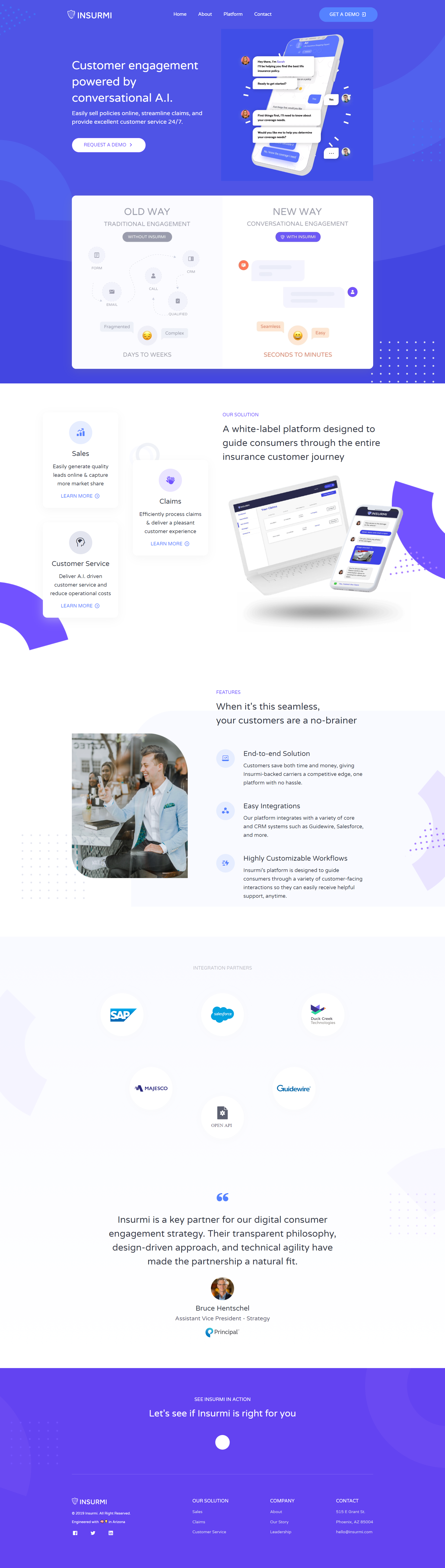 INSURMI Customer engagement, Digital strategy, Digital