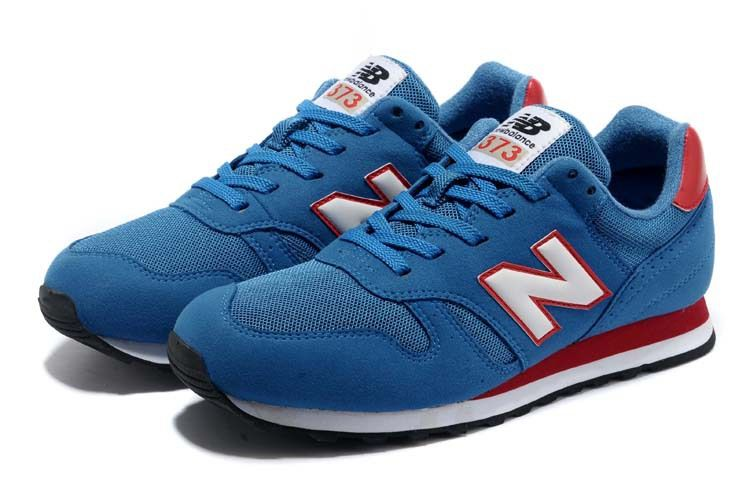 new balance 373 blue red