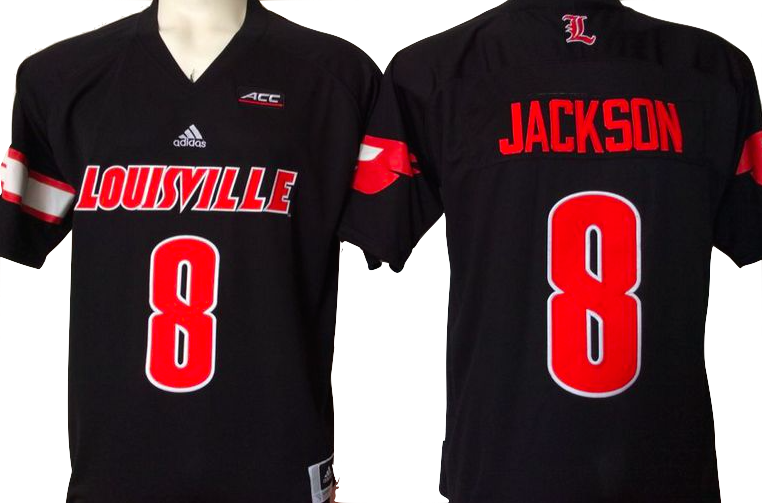 outlet store f7eb9 e2d97 Louisville Cardinals Jersey - #8 Lamar Jackson College ...