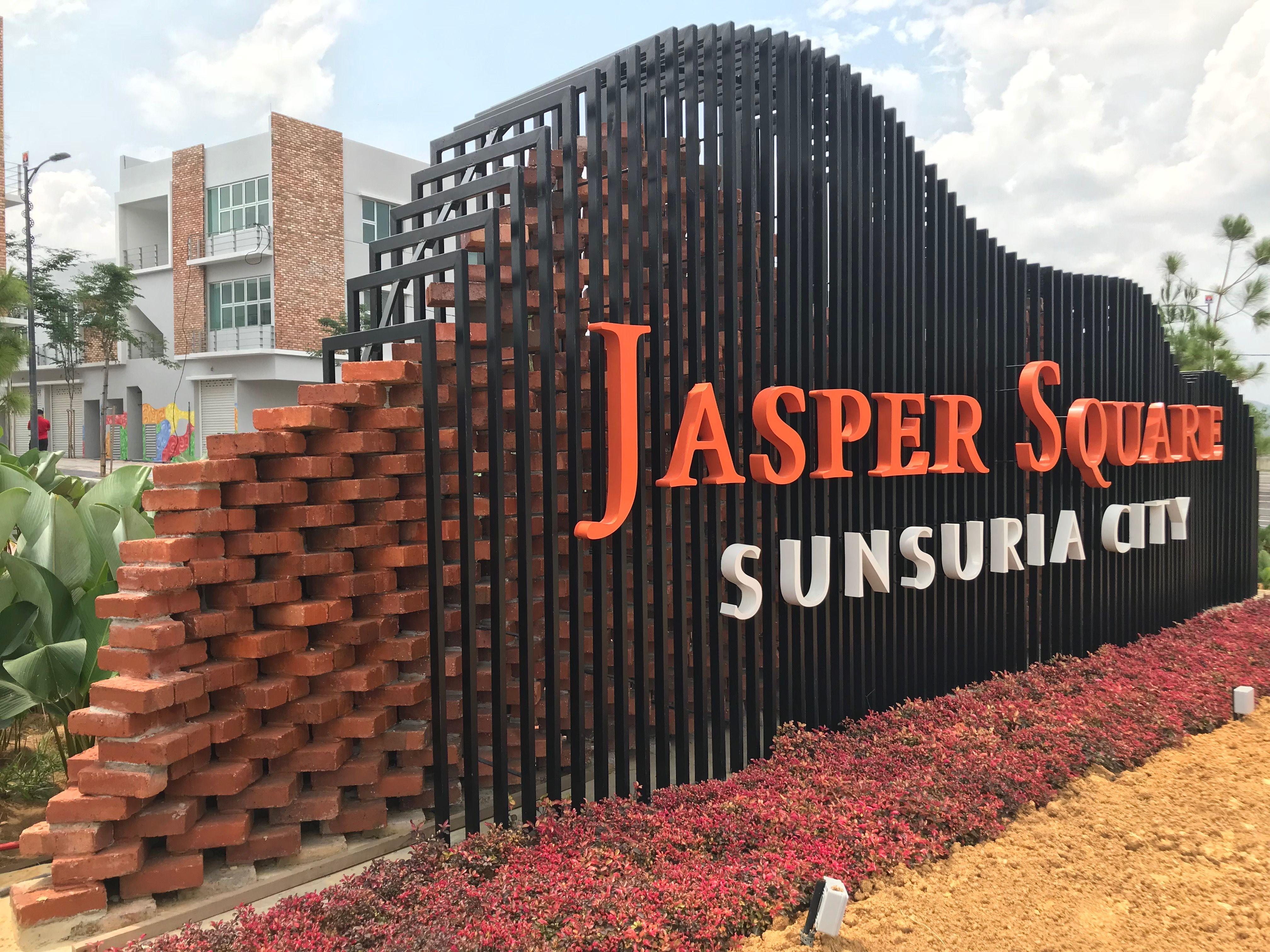 Those Bricks Signage Are Caged In Jasper Square Sunsuria City