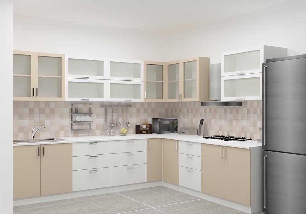 Shaped Kitchen With Laminate Finish En 2019