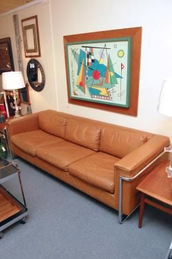 Fabulous Leather Sofa By Milo Baughman For Directional At Hunt Gather Raleigh