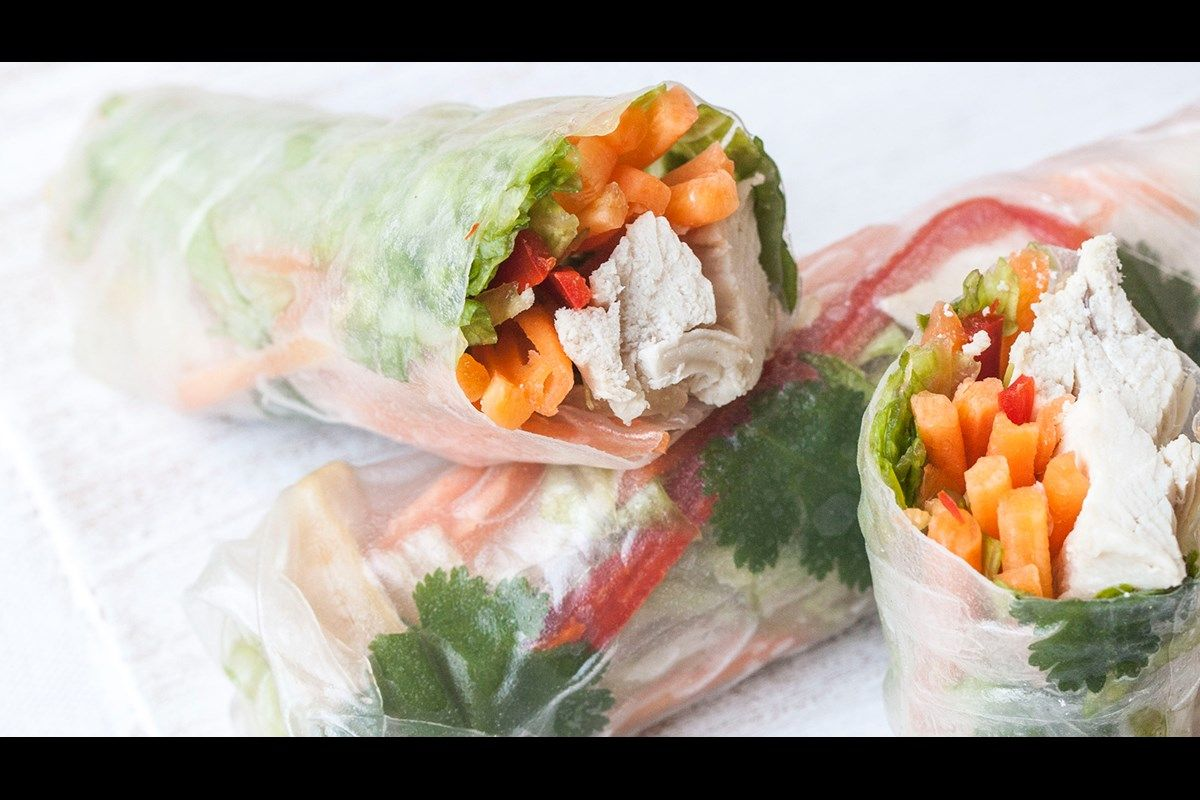 Chicken Rice Paper Wraps Recipe Canvas The Key With