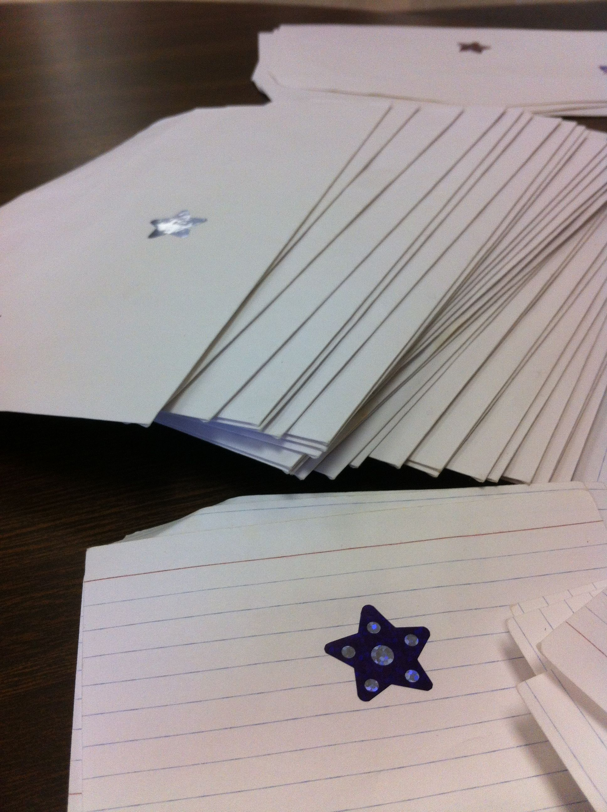 Envelope Stuffing Match The Sticker On The Index Card