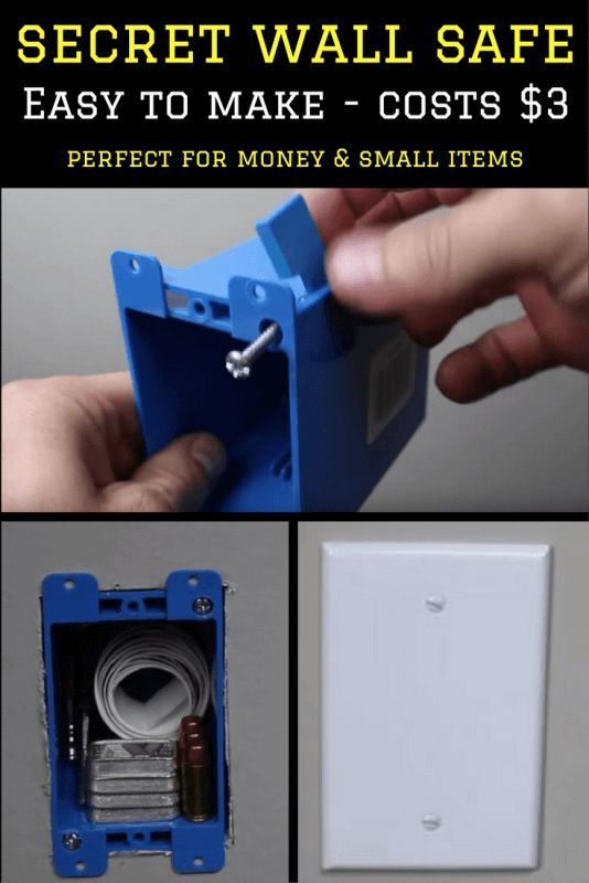 DIY Secret Wall Safe For Less Than 3 in 2020 Secret