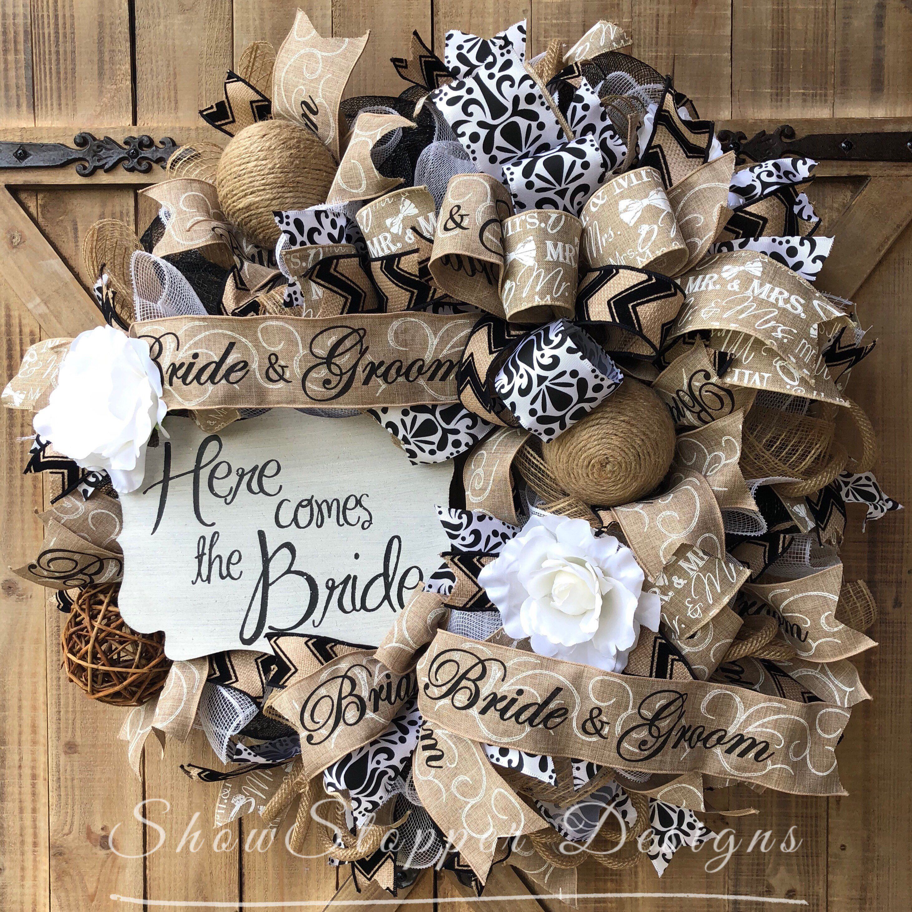 Newly Engaged Gift,Wreath,Home Decor,Wedding Decor,Front Door Wreaths,