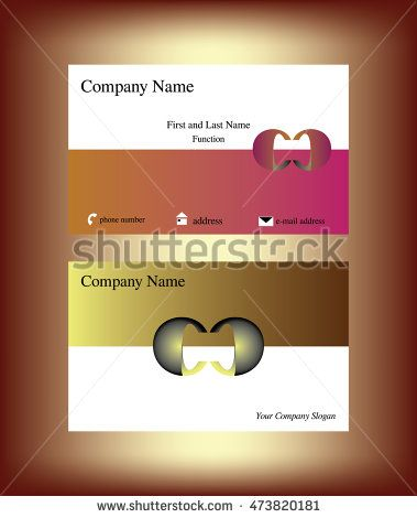 Business Card With Two Bold C Letters Facing Each Other