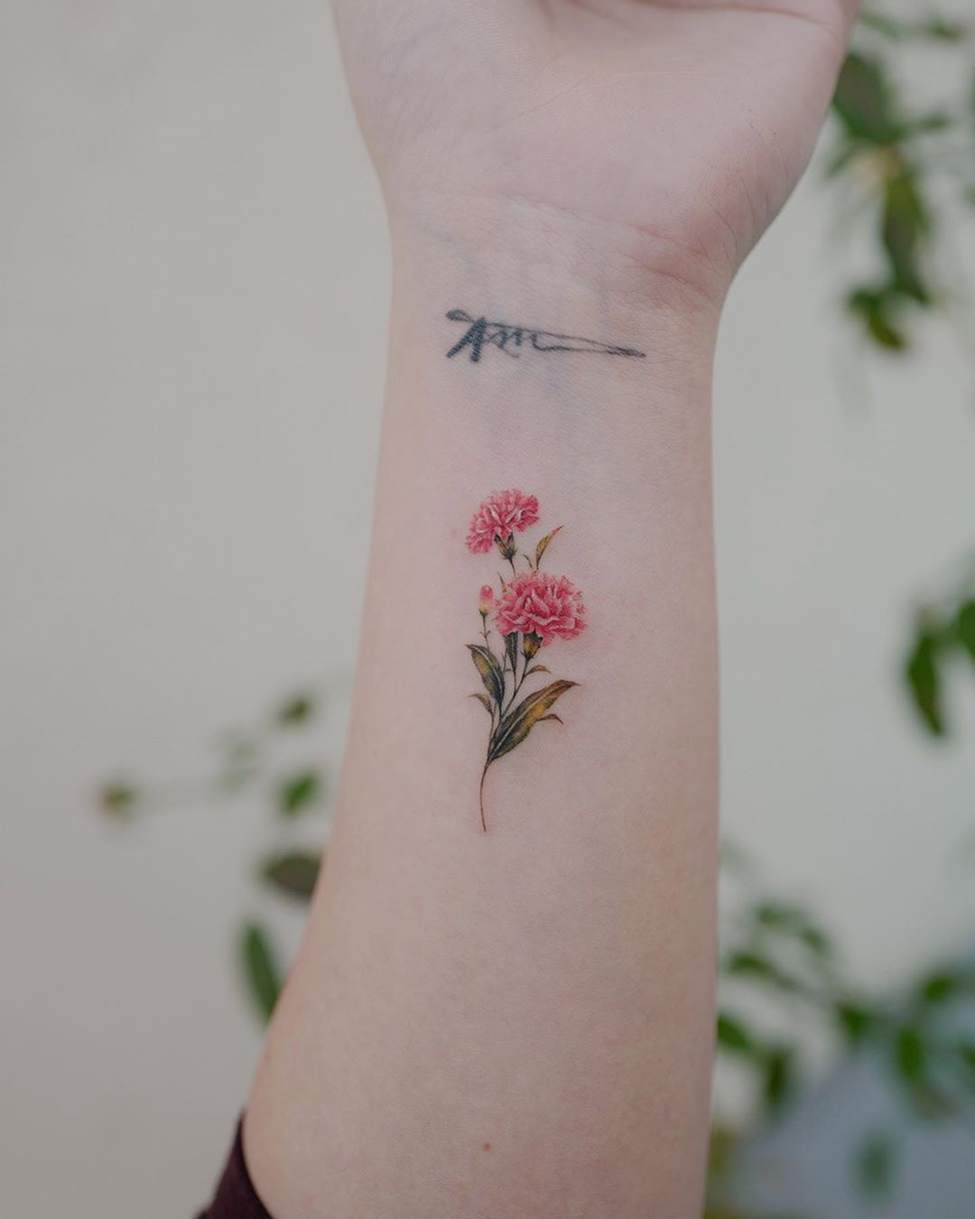 30 Beautiful Carnation Flower Tattoo And Violet Flower Tattoo In 2020 Carnation Tattoo Carnation Flower Tattoo Purple Flower Tattoos