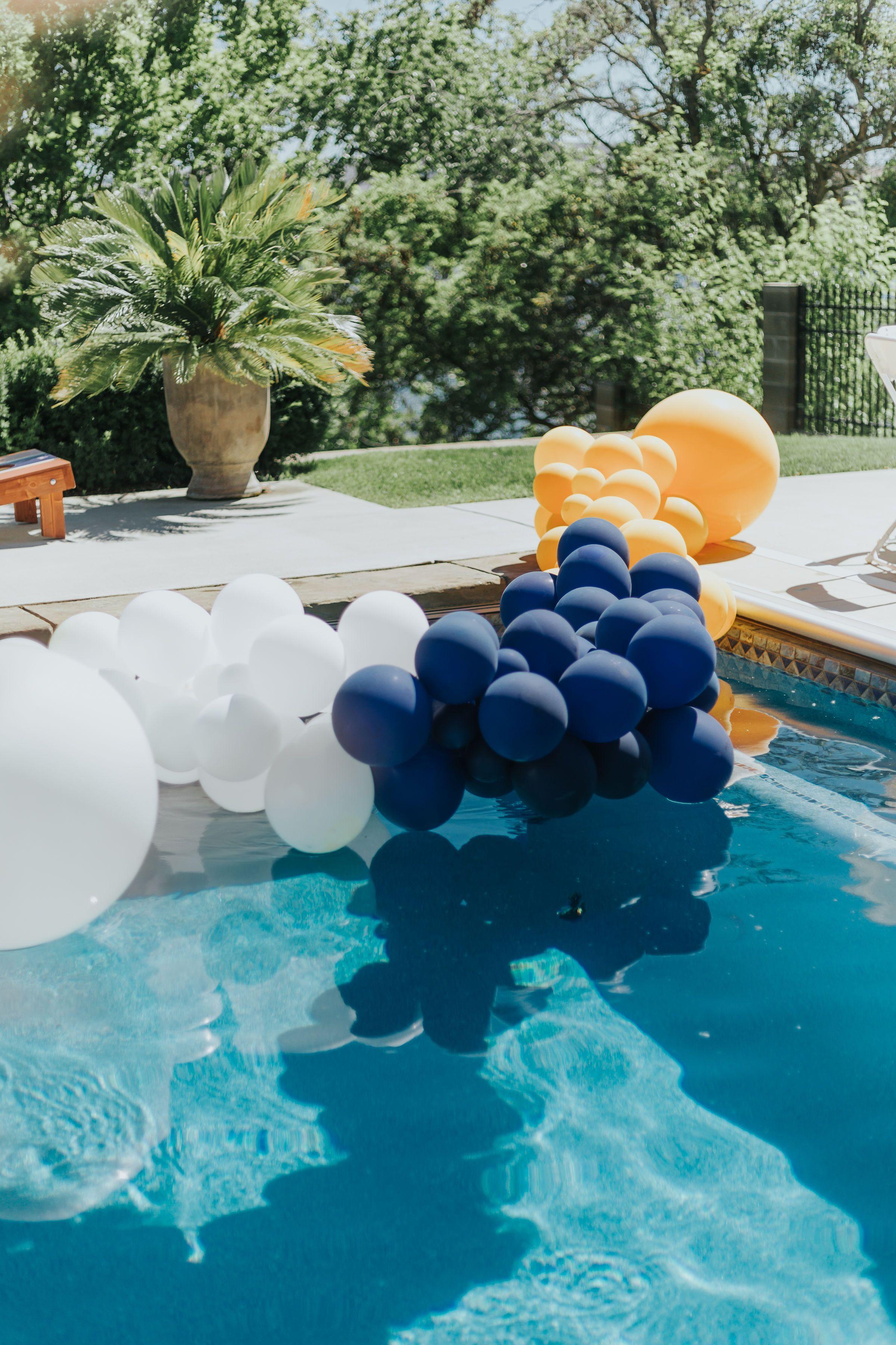 Pool Balloon Garland Balloon Garland Pool Party Decorations