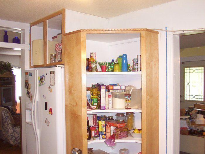 Corner cabinet pantry design
