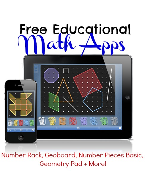 Free Educational Math Apps Number Rack, Geoboard, Number