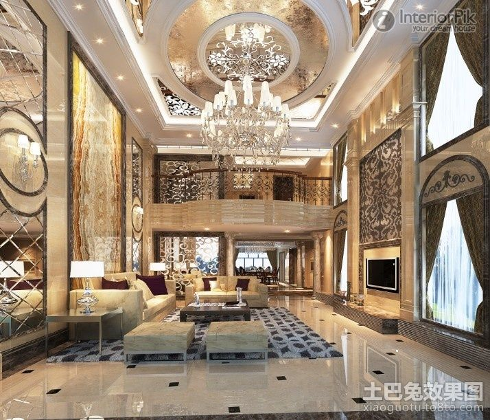 Luxury Home Interior Design: Luxury European Ceiling For Modern Home