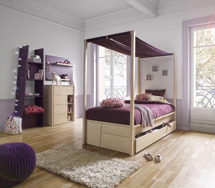 Leuke jeugdkamer cameo van gautier hier met hemelbed de boomhut leuke tiener kamers - Deco meisjes slaapkamer ...