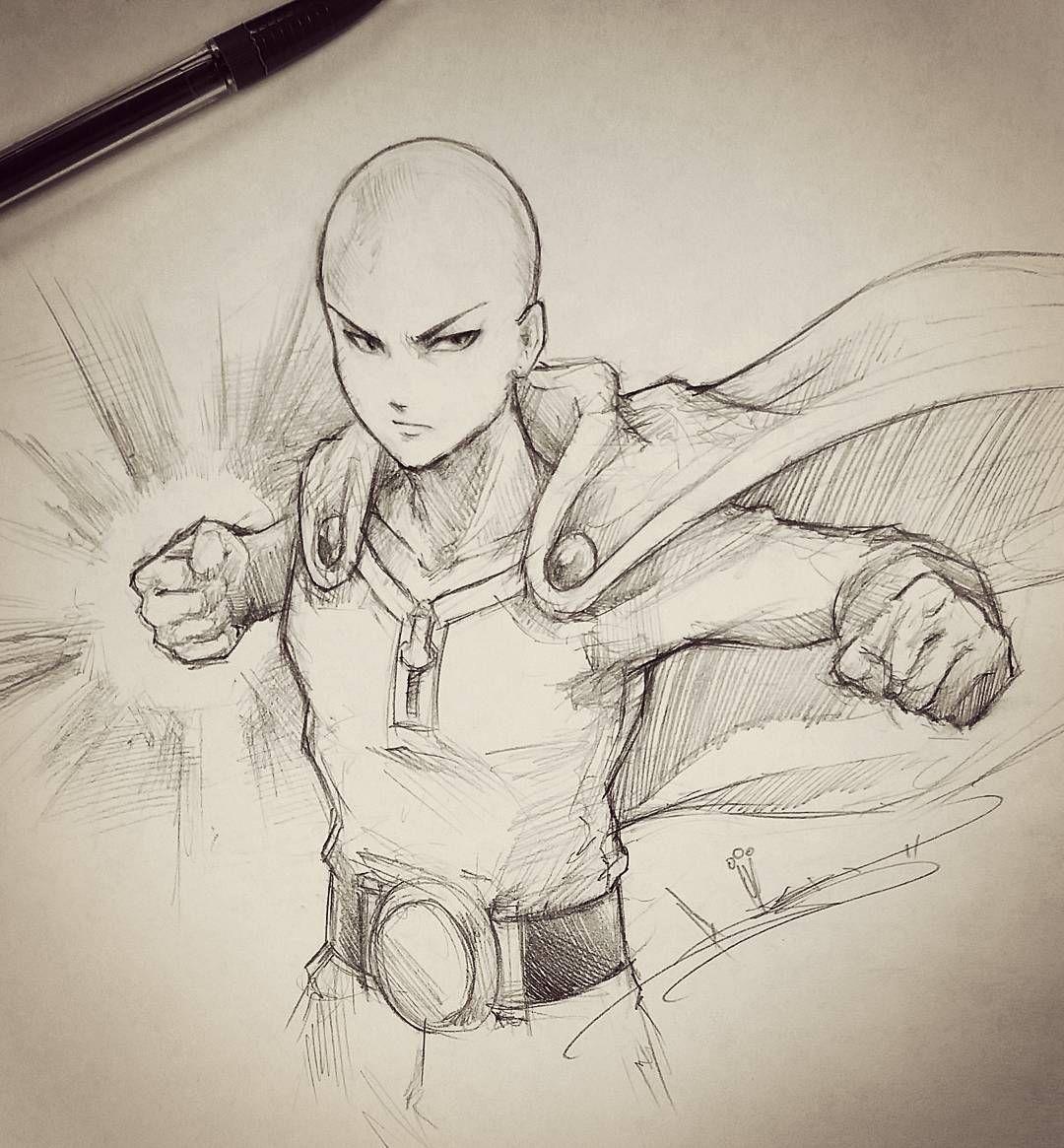 Artist itsbirdy one punch man manga pinterest - Croquis naruto ...