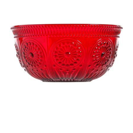 The Pioneer Lady Adeline 9 Quot Serving Bowl Pink Walmart