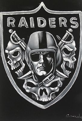 fantastic oakland raiders skull logo oil painting on black velvet rh pinterest com Oakland Raiders New Logo Oakland Raiders New Logo