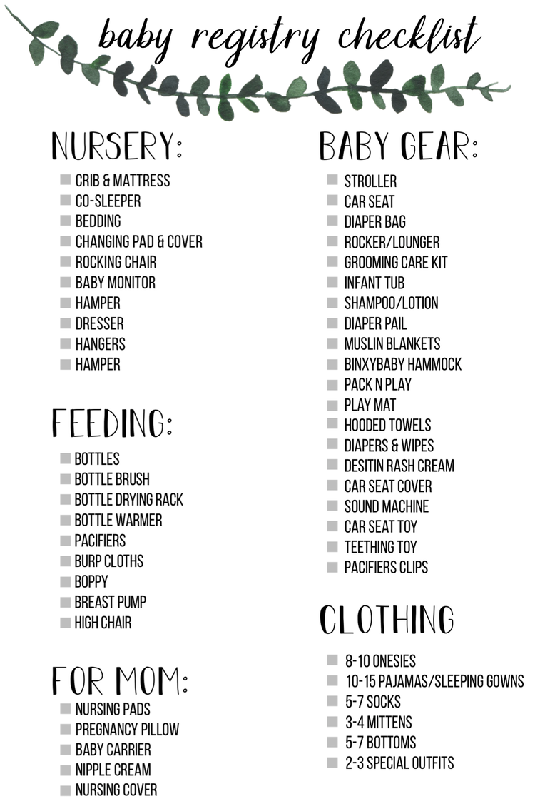 Baby Registry List Must Haves Baby Registration Baby Registry Baby Registry Checklist