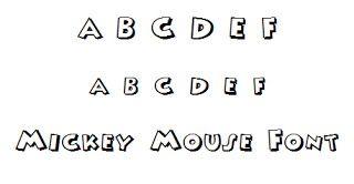 Mickey Mouse Font (Dengan gambar)