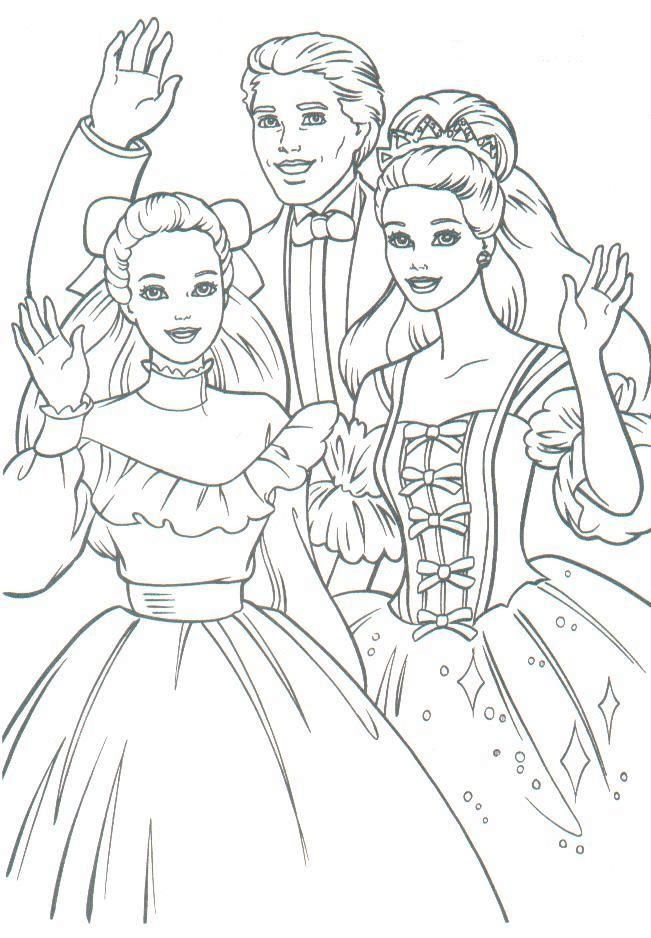 vintage Barbie coloring page | Barbie coloring pages ...