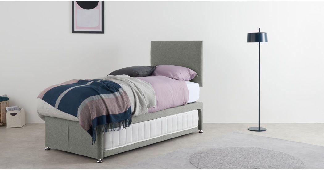 Hyron Gastebett Mit 2 Matratzen Grau Bett Ideen Matratze Bett