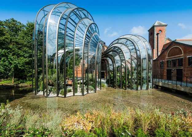 Sustainability at Forefront in Curved Glass Houses for Gin Brand