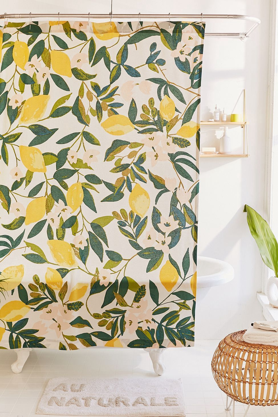 Urban Outfitters Allover Fruits Shower Curtain Peaches 72x72