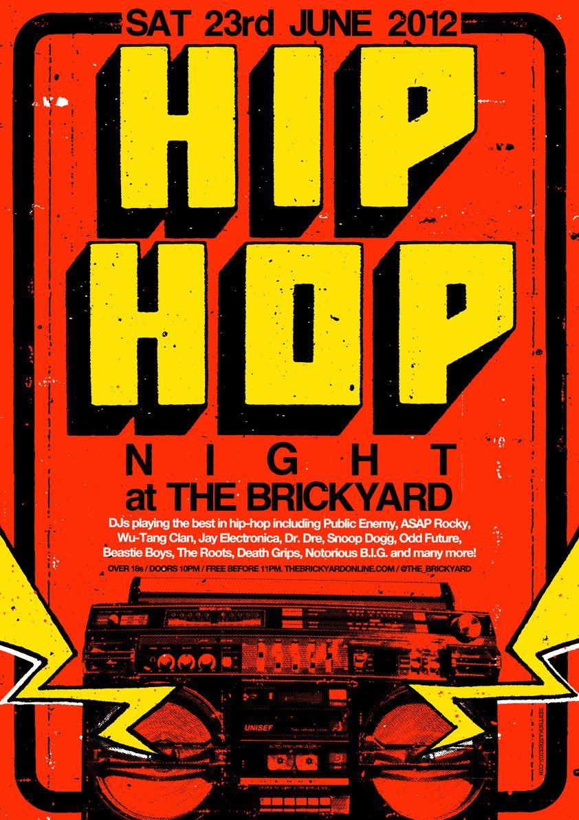 4369b7cec2ef1 hip hop poster. ben thomas. Piezas Graficas