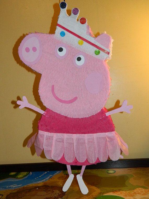 Peppa Pig Pinata Party Ballerina Peppa Pig Party Peppa Pig Birthday Party Pig Party