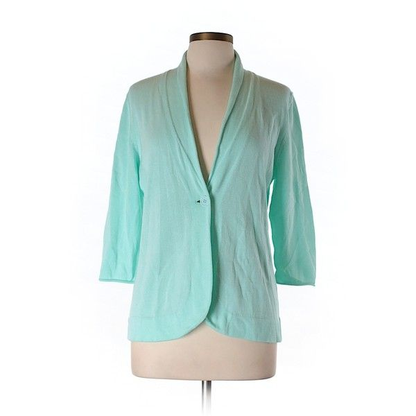 Pre-owned Neiman Marcus Cardigan ($50) ❤ liked on Polyvore featuring tops, cardigans, light green, neiman marcus tops, cardigan top, green cardigan and green top