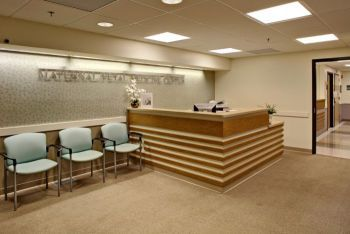 reception desk in a healthcare facility | healthcare design