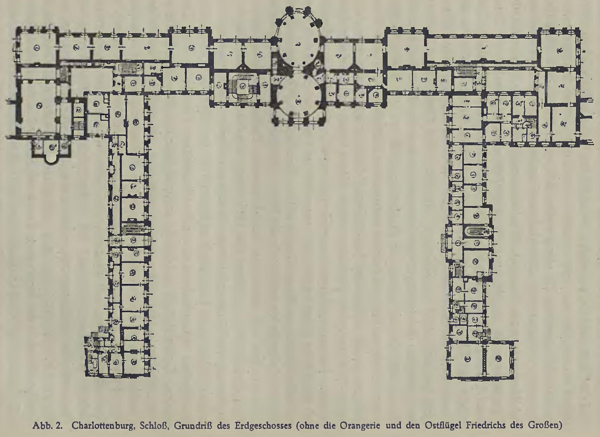 Charlottenburg Castle Ground Plan Of The Ground Floor Without The Orangery And East Wing Of Fred Architectural Floor Plans How To Plan Charlottenburg Palace