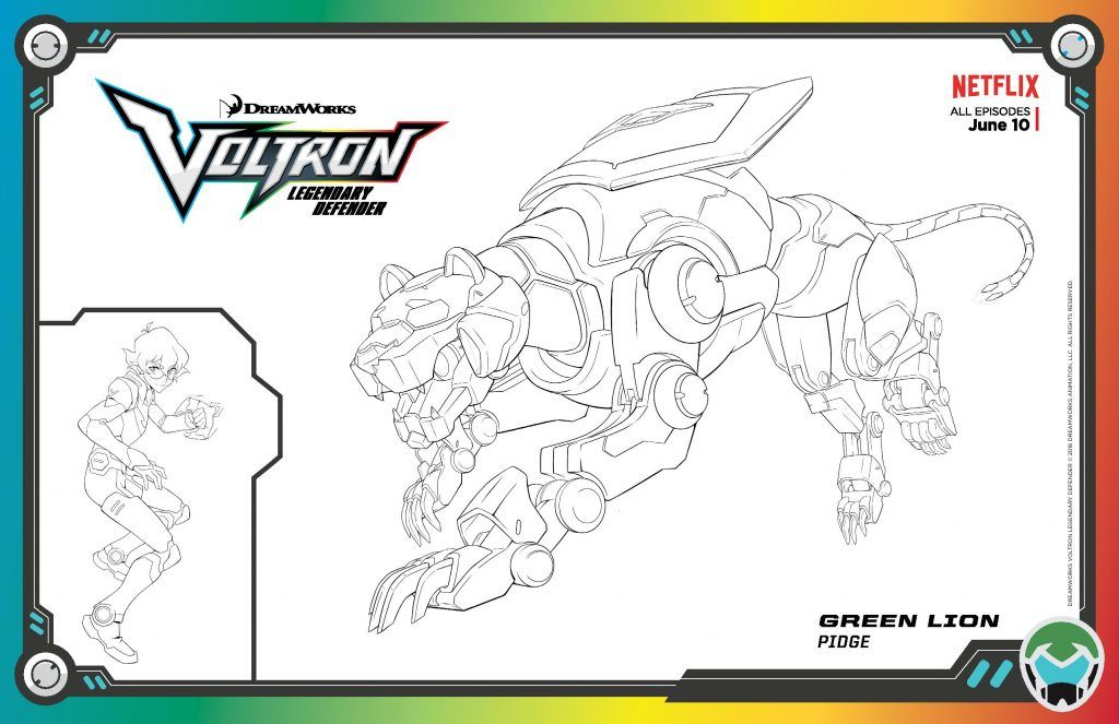 Activity Sheets Trading Cards Slideshow Clips And Stills Dreamworks Voltron Legendary Defender Voltron Voltron Legendary Defender Cartoon Coloring Pages