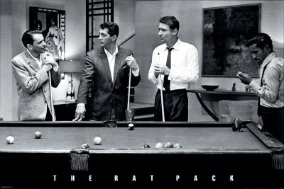 Here Is The Popular Rat Pack Pool Poster From The Original