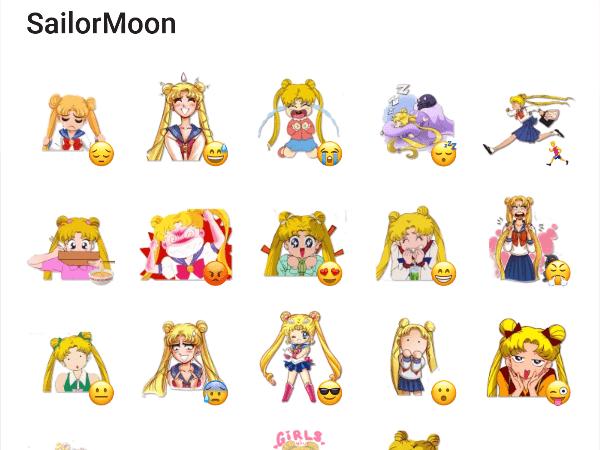 Sailor Moon Telegram Sticker Pack Contains Some Awesome Stickers About Sailor Moon Add Stickers Telegram Stickers Sailor Moon Sailor