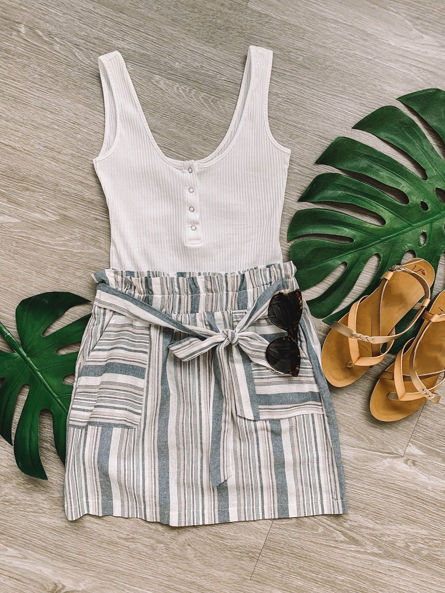Summer Outfit with Skirt #vacationoutfits