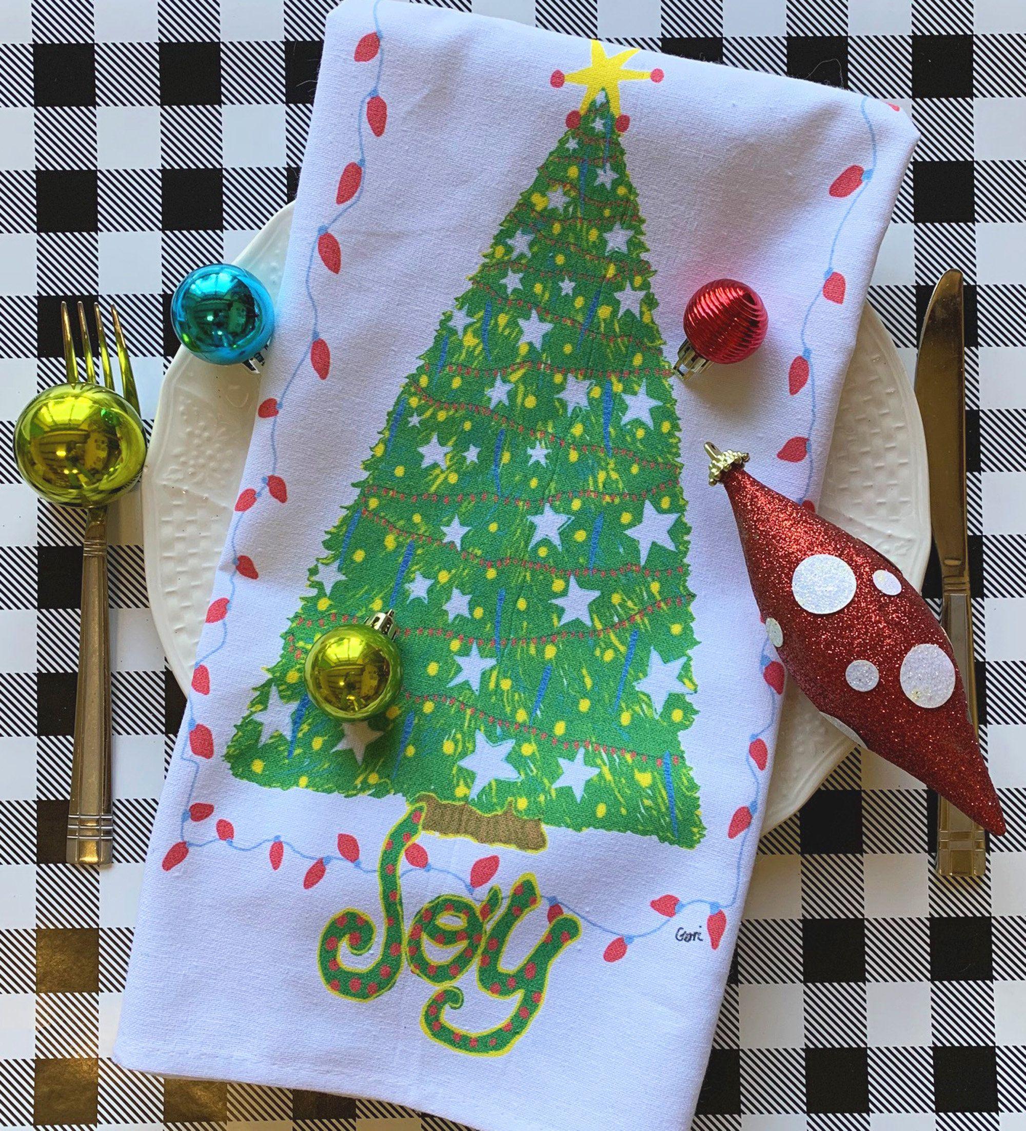 Christmas Tea Towel, Teacher Gift Idea, 22 x 32