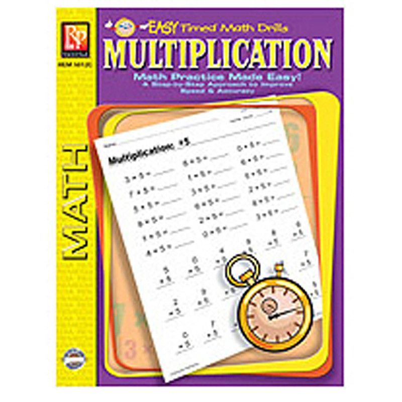 MULTIPLICATION EASY TIMED MATH