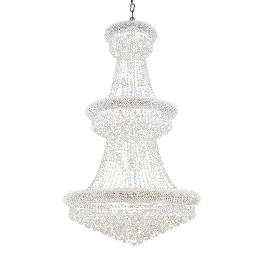 Shop Elegant Lighting Primo Light Chrome Crystal Chandelier At - Chandelier crystals lowes