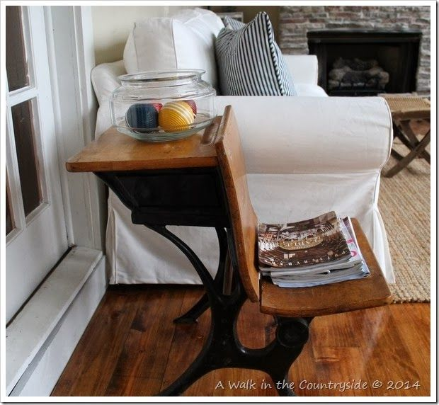 Vintage School Desk As An End Table Antique Desk Redo And Dry