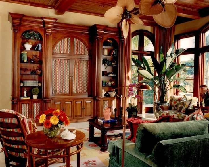 British Colonial West Indies Living Room Caribbean Style