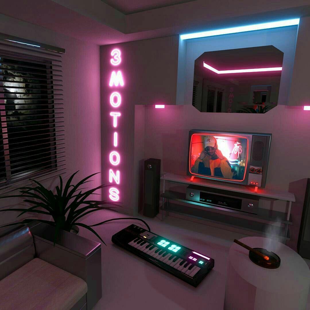 Pin By Sonia Nusselder On Decoración Geek Neon Bedroom Neon Room Game Room Design