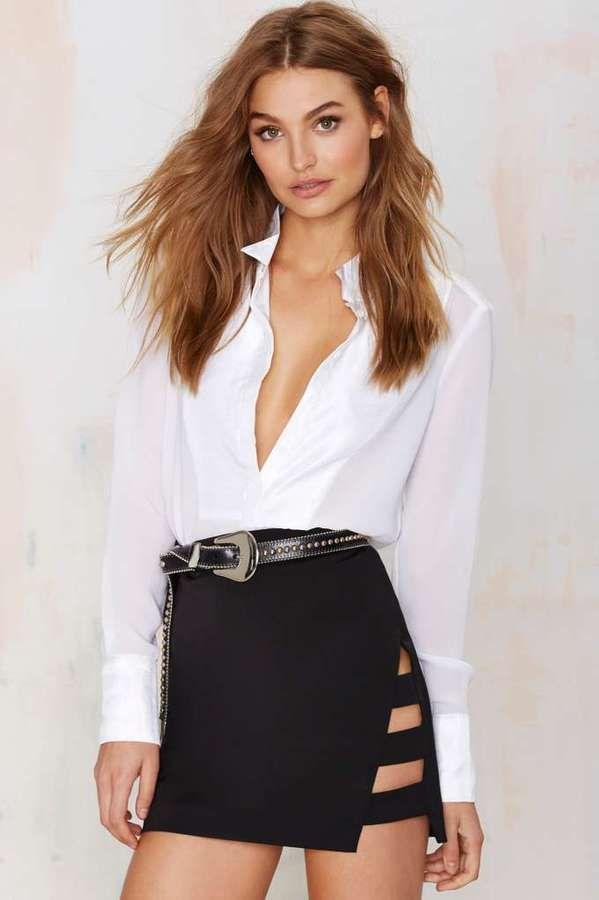 Nasty Gal Dominion Asymmetrical Skirt
