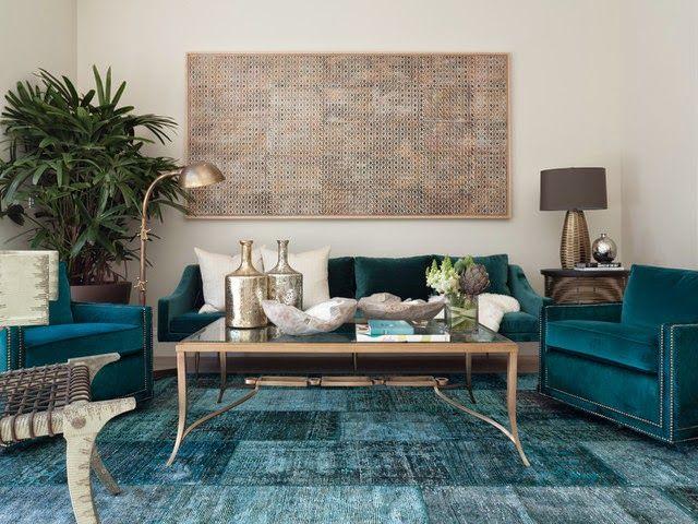 Desain Interior Ruang Tamu Dengan Karpet Lantai Simple Griya Indonesia