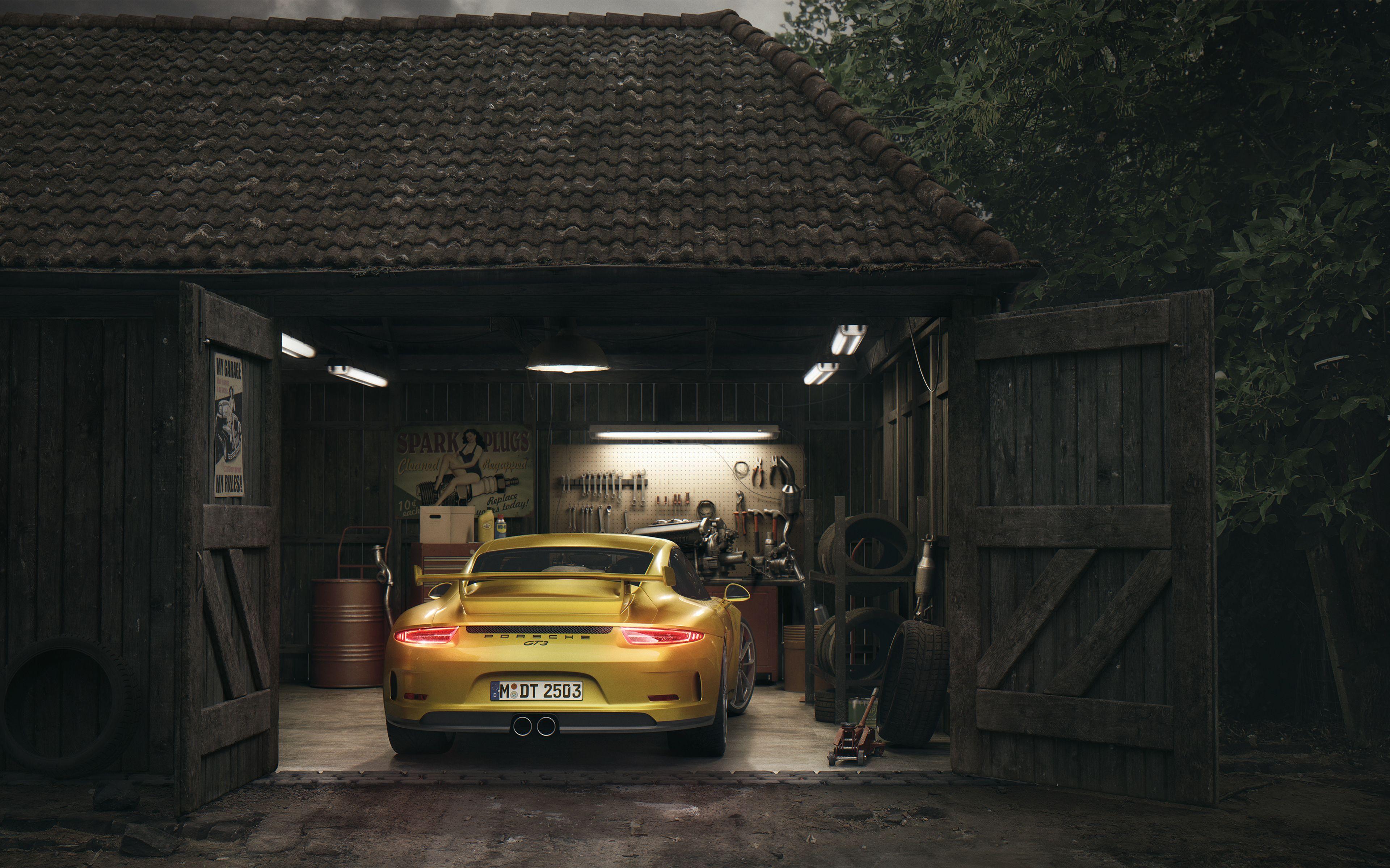 Porsche Gt3 Barn 4k Car Wallpapers Porsche Gt3 Porsche