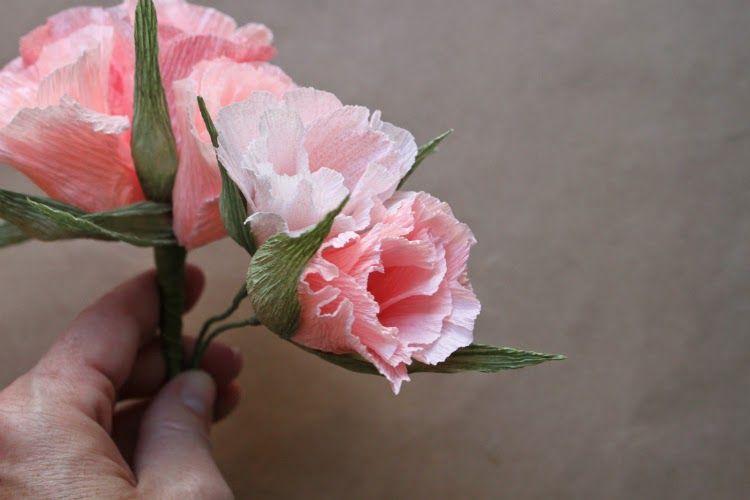 Crepe Paper Godetia And Bougainvillea Crepe Paper Paper Flowers Diy Paper Flowers