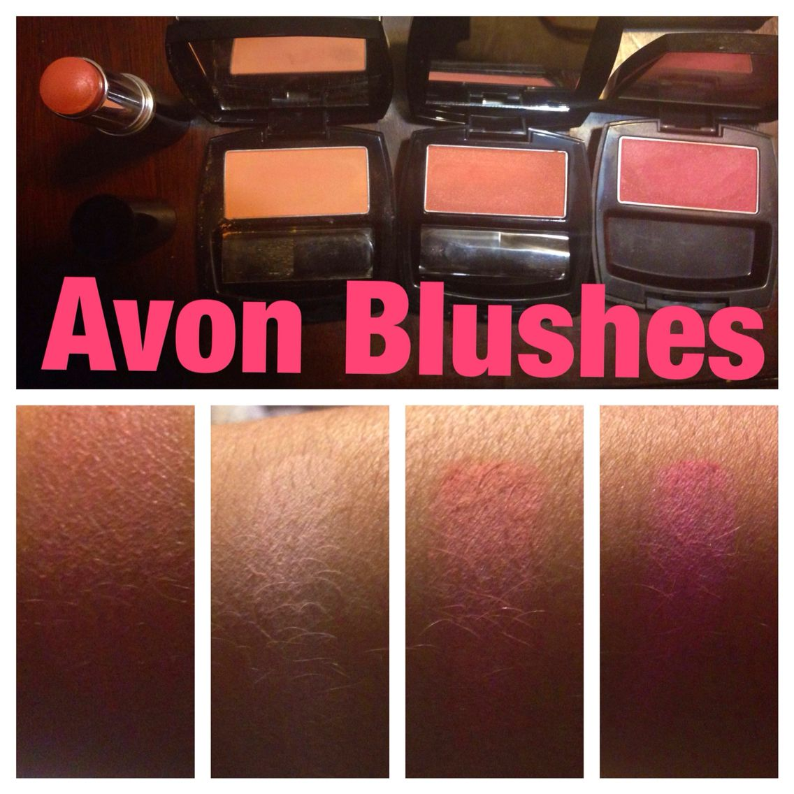Avon Blush Colors From Left To Right Blushing Nude Cream Blush
